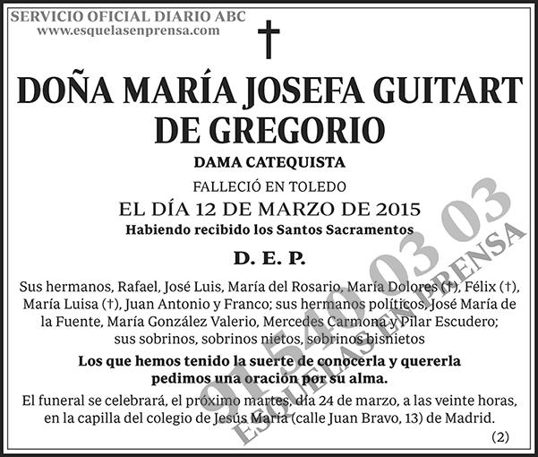 María Josefa Guitart de Gregorio